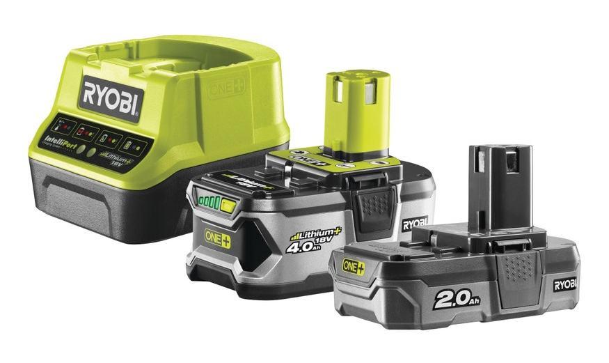 RYOBI Déstockage - Ryobi - Pack 2 batteries Lithium+ 18 V One+ 2.0-4.0 Ah avec