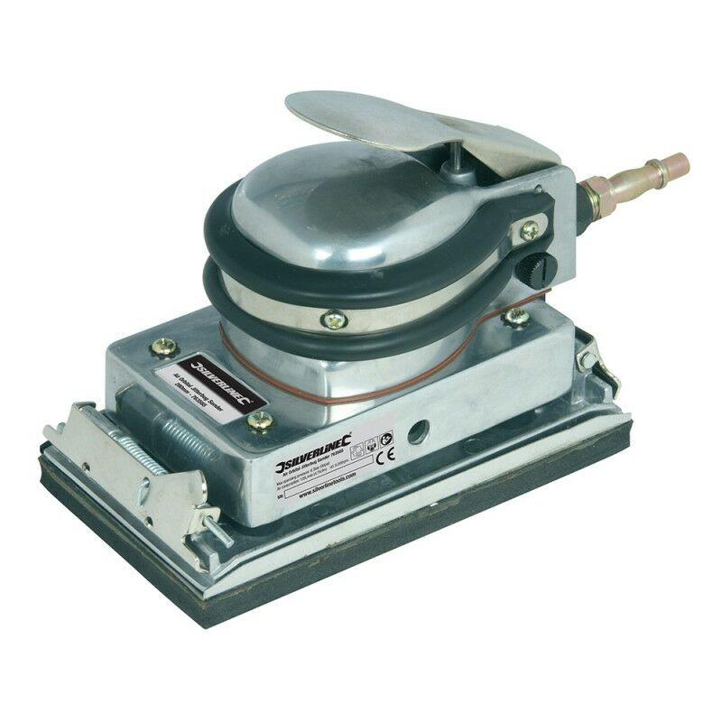 Silverline - Ponceuse pneumatique orbitale - 90 x 170 x 12 mm