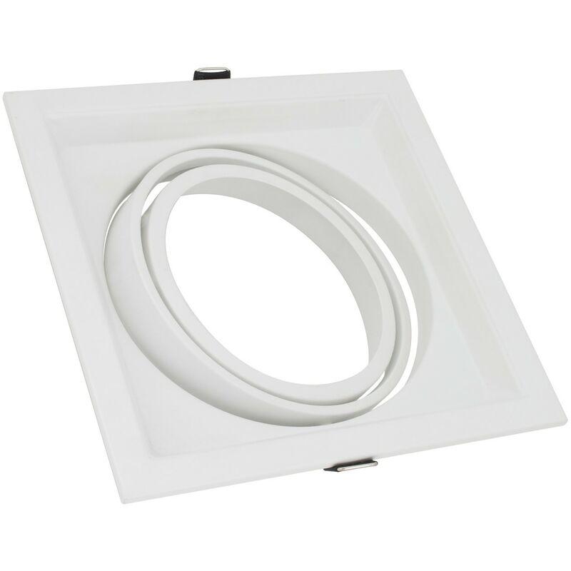 LEDKIA Support Spot Carré Orientable pour Ampoule LED AR111 Blanc - Blanc