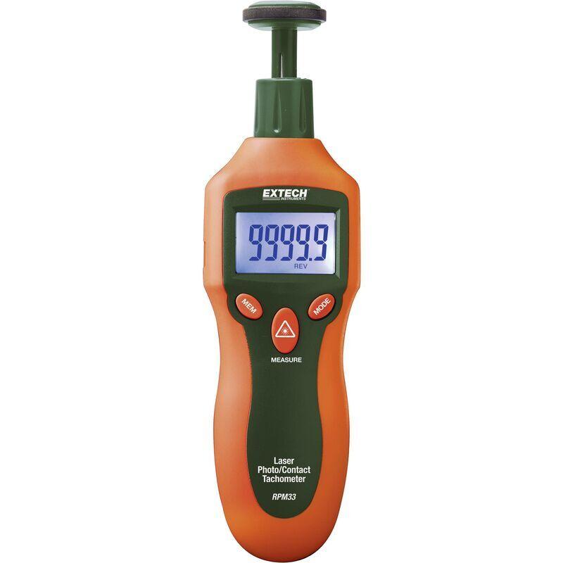 EXTECH Tachymètre RPM33 à visée laser optique/à contact avec mini-laser Q835801