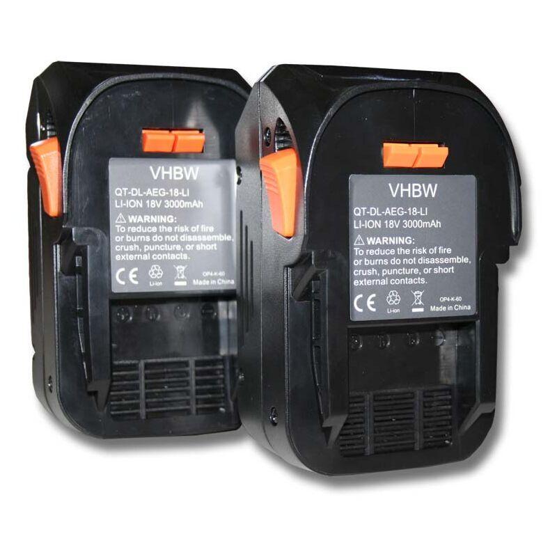 VHBW 2x Batterie compatible avec AEG BST 18X, BUS 18, BUS 18 X outil électrique