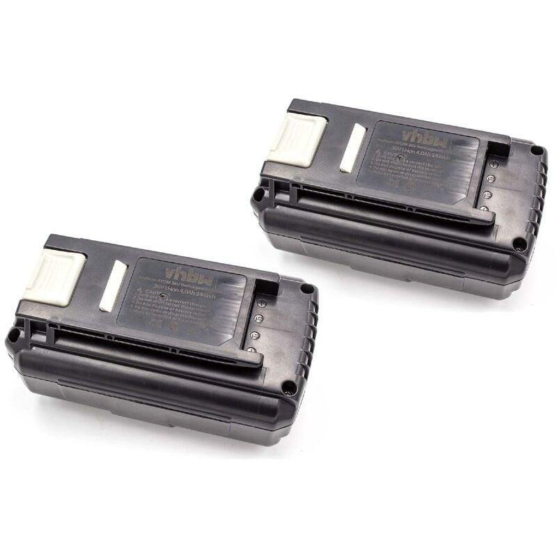 VHBW 2x Batterie Li-Ion 4000mAh (36V) pour les outils électriques, tels que Ryobi