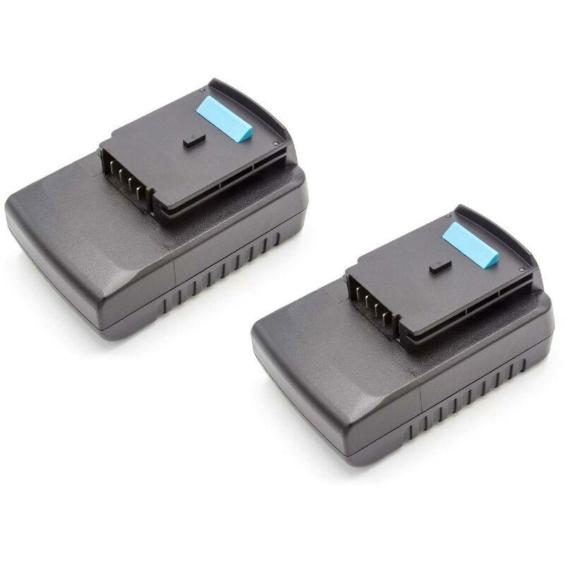 vhbw 2x Batteries Li-Ion 2000mAh (18V) pour outils Black & Decker GKC1000L,