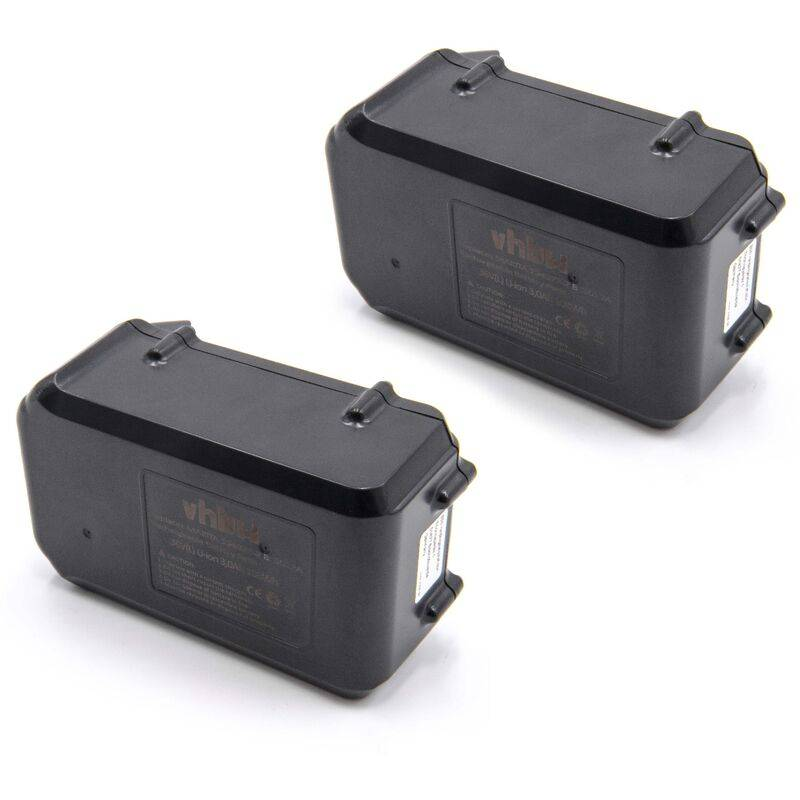 vhbw 2x Li-Ion batterie 3000mAh (36V) pour outil électrique outil Powertools
