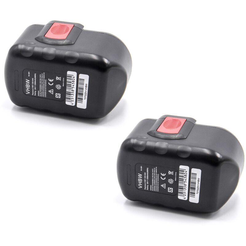 vhbw 2x NiMH batterie 2000mAh 24V pour outil électrique outil Powertools Tools