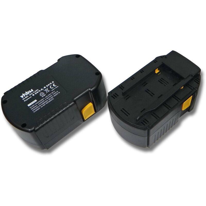 vhbw 2x NiMH batterie 3000mAh (24V) pour outil électrique outil Powertools