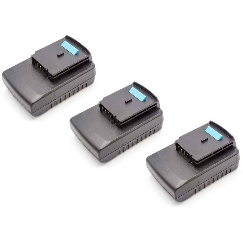 vhbw 3x Batteries Li-Ion 2000mAh (18V) pour outils Black & Decker GKC1000L,