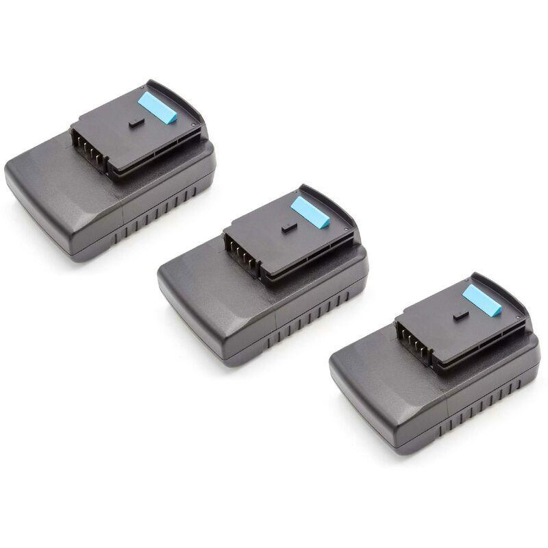VHBW 3x Batteries Li-Ion 2000mAh (18V) pour outils Black & Decker GKC1000L, GKC1817,