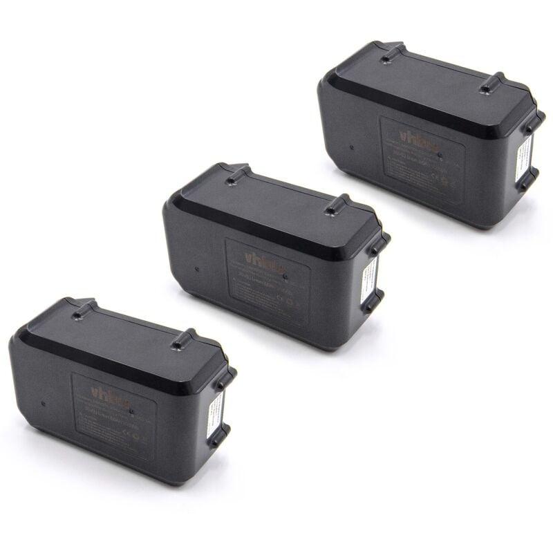 vhbw 3x Li-Ion batterie 3000mAh (36V) pour outil électrique outil Powertools