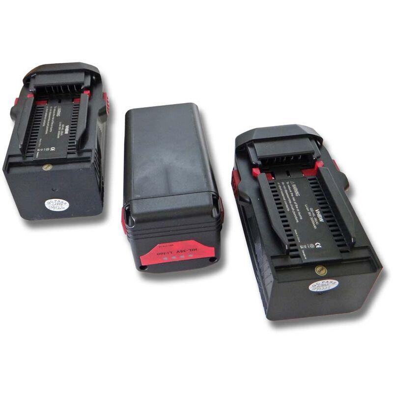 vhbw 3x Li-Ion batterie 3000mAh (36V) pour outils Hilti TE6-ALi, TE6-A36,
