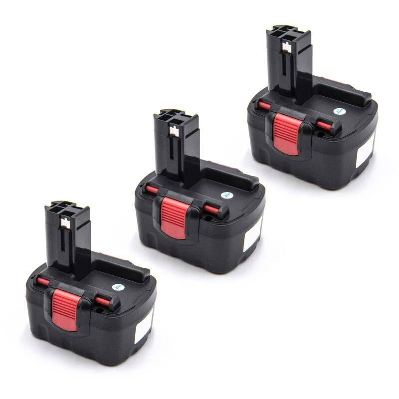 VHBW 3x Ni-MH Batterie 1500mAh (14.4V) pour outils Bosch AHS 41, GDR 14.4V, GDS