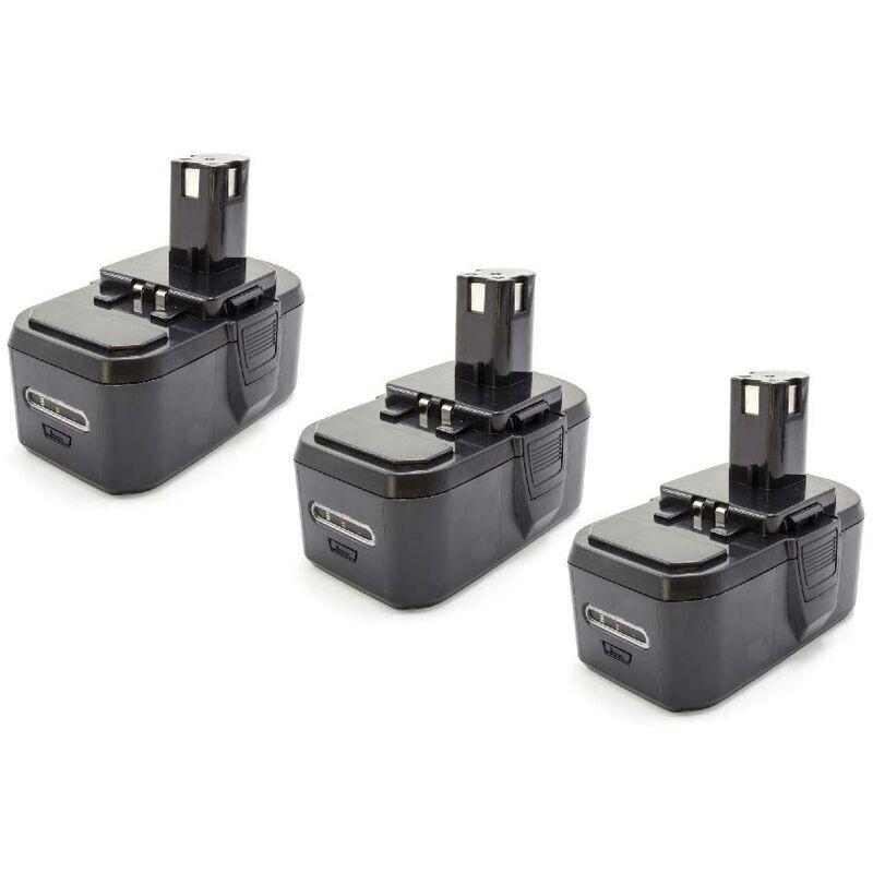 vhbw 3x NiMH batterie 1300mAh (18V) pour outil électrique outil Powertools