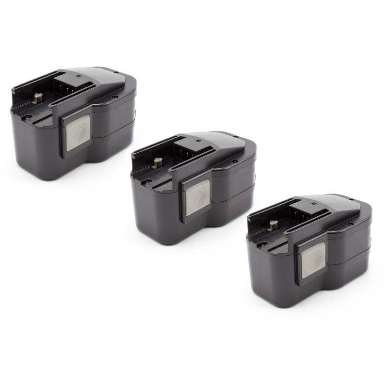 VHBW 3x NiMH batterie 1500mAh (12V) pour outil électrique outil Powertools Tools AEG