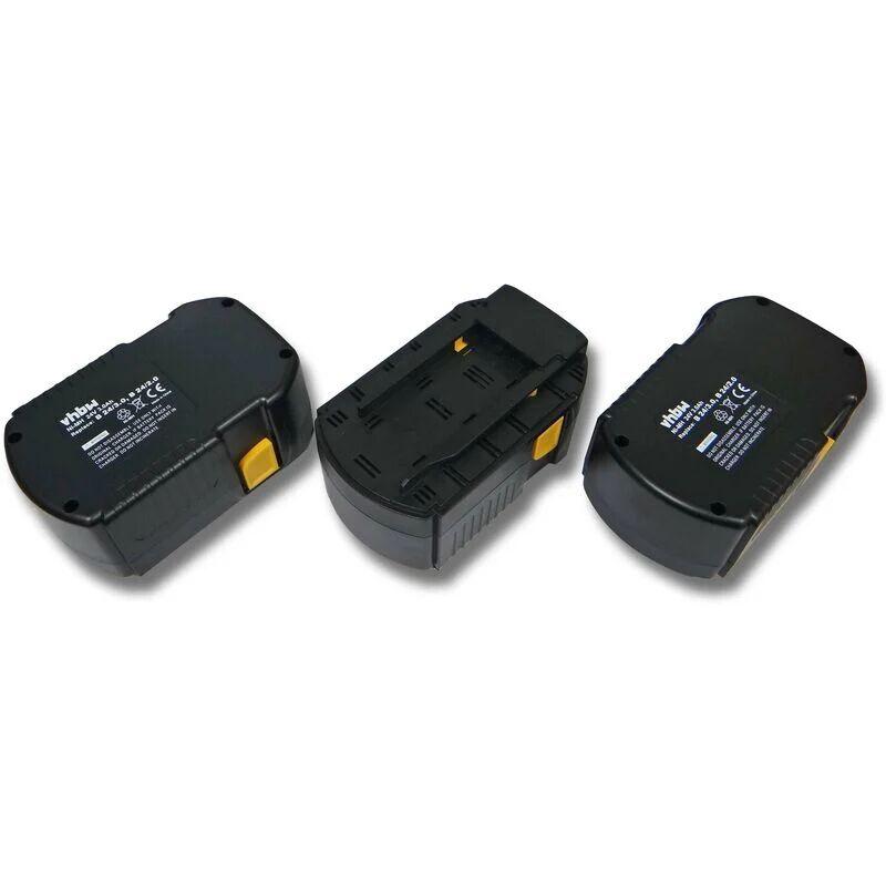 vhbw 3x NiMH batterie 3000mAh (24V) pour outil électrique outil Powertools