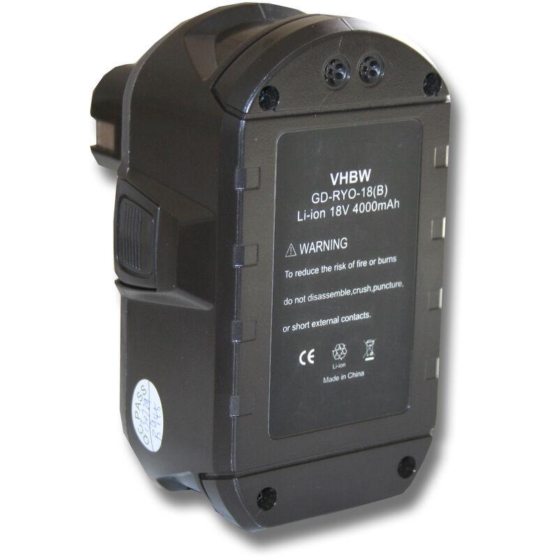 vhbw Batterie 4000mAh pour outil Ryobi One BID-1801M BID-180L BID1821 BIW180