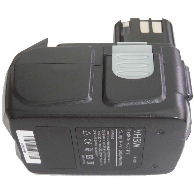 vhbw Batterie Li-Ion 3000mAh outils éléctroniques Hitachi C-2, CJ 14DL, DH