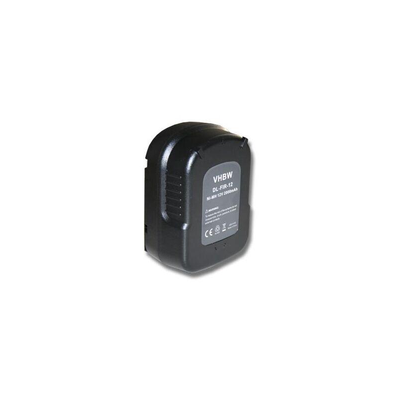 VHBW Batterie Ni-MH 2000mAh (12V) pour outils électriques Black & Decker HP126FBH,
