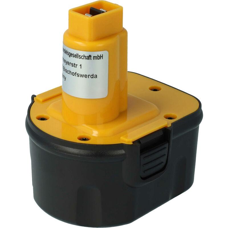 VHBW Batterie NiMH 2000mAh pour outils électriques Black & Decker CD120GK, CD120GK2,