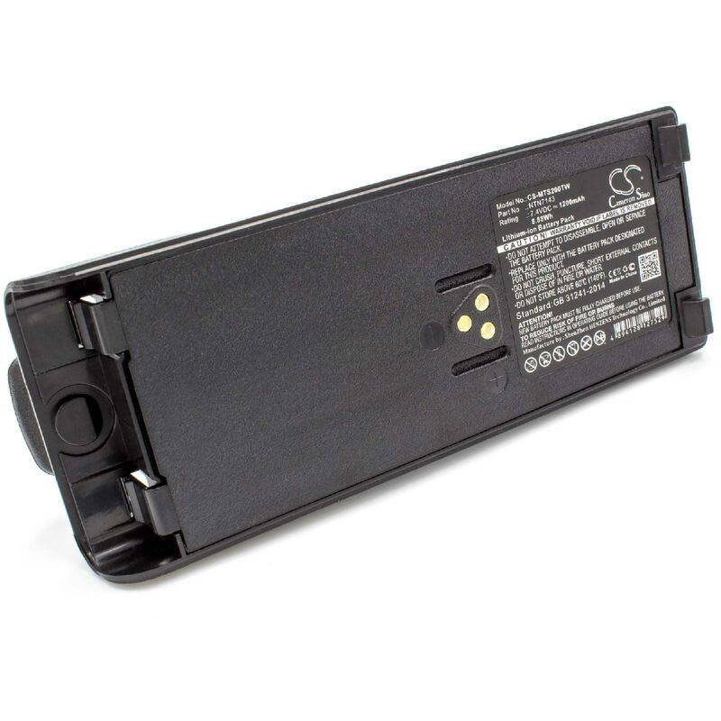 vhbw Li-Ion batterie 1200mAh (7.4V) pour radio talkie-walkie Motorola GP1200,