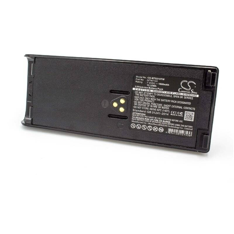 vhbw Li-Ion batterie 1800mAh (7.4V) pour radio talkie-walkie Motorola GP1200,