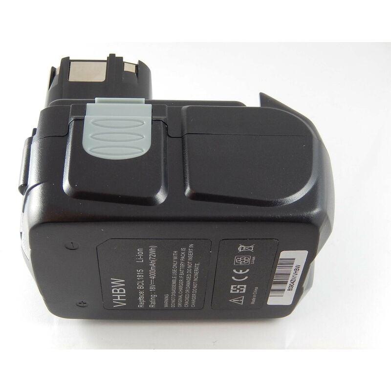 vhbw Li-Ion Batterie 4000mAh (18V) pour outils Hitachi CJ 18DL, CJ 18DLX,