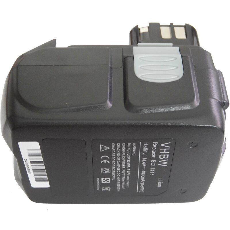 VHBW Li-Ion Batterie 4000mAh pour outils électriques Hitachi C-2, CJ 14DL, DH