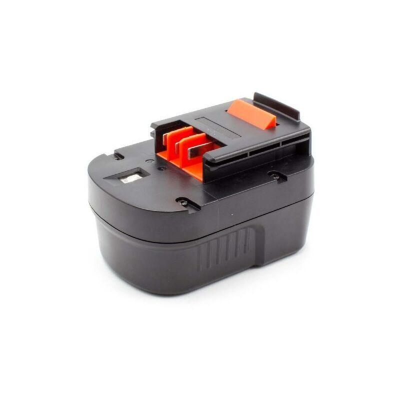VHBW Batterie remplacement pour Black & Decker A12, A12-XJ, A12EX, A1712, BD1204L,
