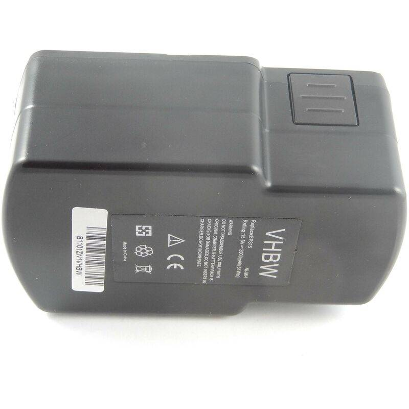 vhbw NiMH Batterie 2000mAh (15.6V) pour outils Festo / Festool PS-400, PS400,