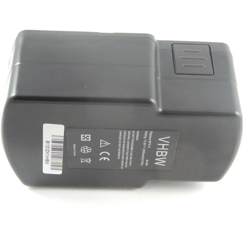 VHBW NiMH Batterie 2000mAh (15.6V) pour outils Festo / Festool PS-400, PS400, T15+3,