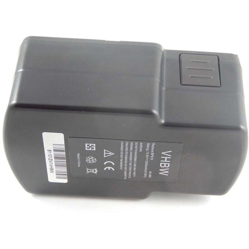 VHBW NiMH Batterie 3300mAh (15.6V) pour outils Festo / Festool PS-400, PS400, T15+3,