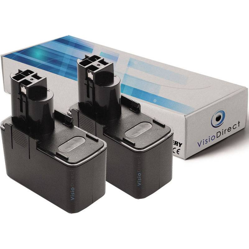 Visiodirect® Lot de 2 batteries pour Bosch GSR12V E-2 perceuse sans fil 3000mAh