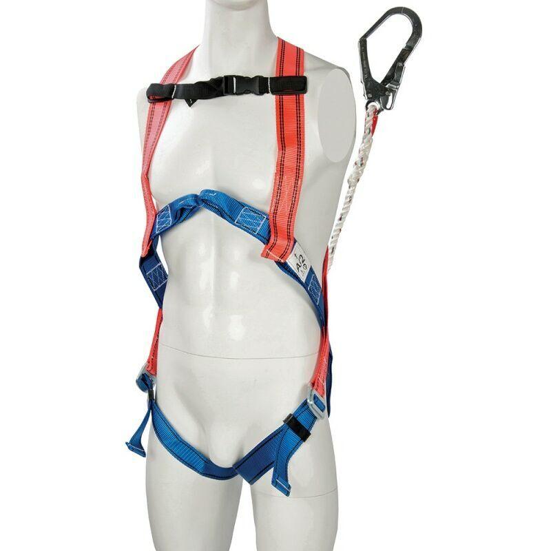 Silverline - Kit de protection anti-chutes - Harnais et absorbeur d'énergie
