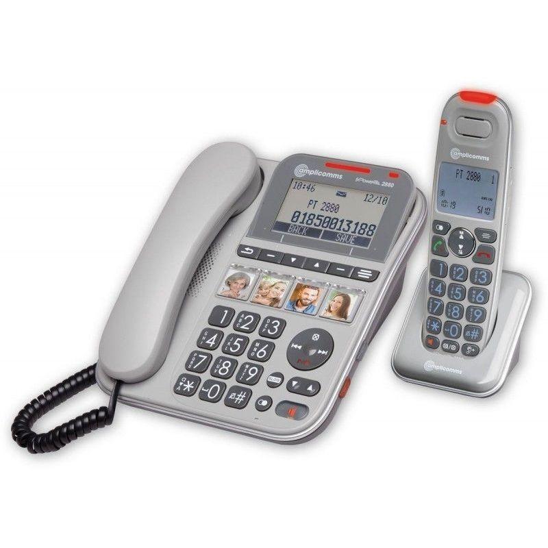 Amplicomms - Powertel 2880 Téléphone senior filaire avec combiné sans fil