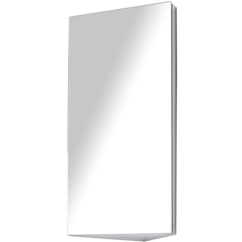 HOMCOM Armoire miroir rangement toilette salle de bain meuble mural d'angle 60 x 30 x