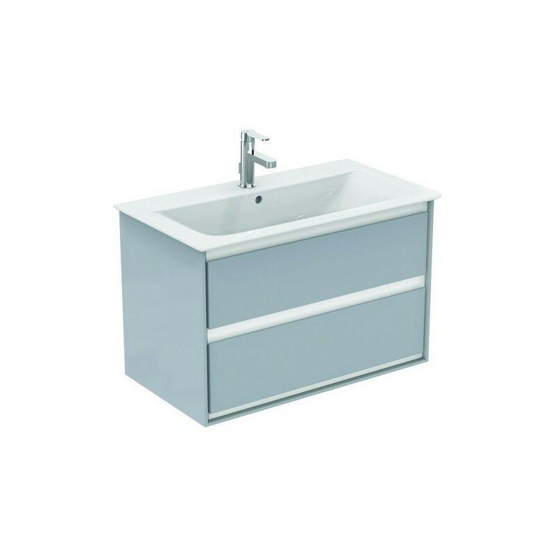 IDEAL STANDARD Meuble sous-lavabo CONNECT Air, 800 mm, 2 tiroirs, E0819, Coloris: Décor gris