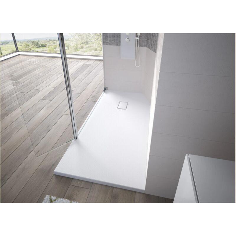KINEDO Receveur de douche recoupable Kinesurf Pietra, 100 x 100, blanc - Blanc - Kinedo