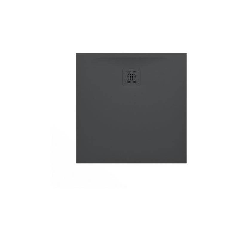 LAUFEN Pro Receveur de douche en gel coat Marbond, extra-plat, carré, évacuation sur