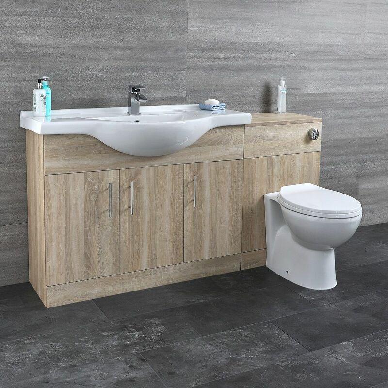 HUDSON REED Meuble-lavabo & Toilette WC 106x78x48cm
