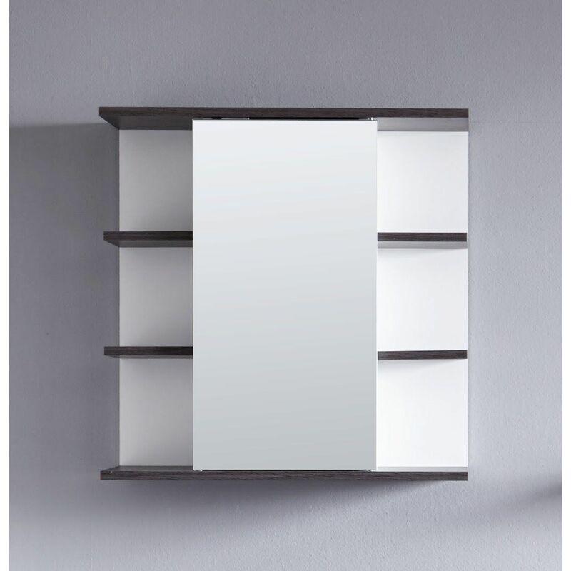 TREND TEAM Meuble salle de bain. Armoire de toilette avec miroir. L - H - P : 60 - 60 - 20