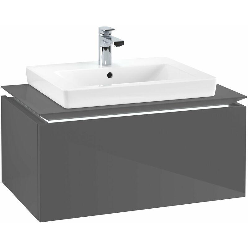 VILLEROY UND BOCH Meuble sous-lavabo Villeroy & Boch Legato B103L6, 800x380x500mm, centré lavabo,