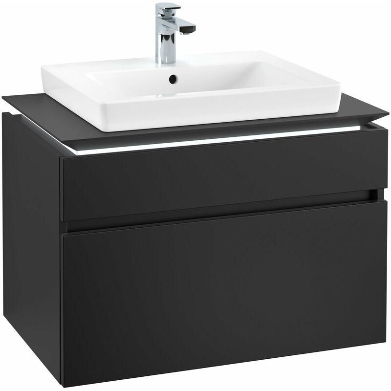 VILLEROY UND BOCH Meuble sous-lavabo Villeroy & Boch Legato B123 L6, 800x550x500mm, centré