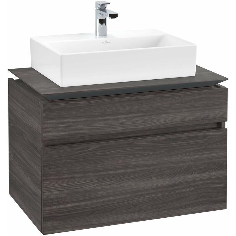 VILLEROY UND BOCH Meuble sous-lavabo Villeroy & Boch Legato B12300, 800x550x500mm, centré lavabo,