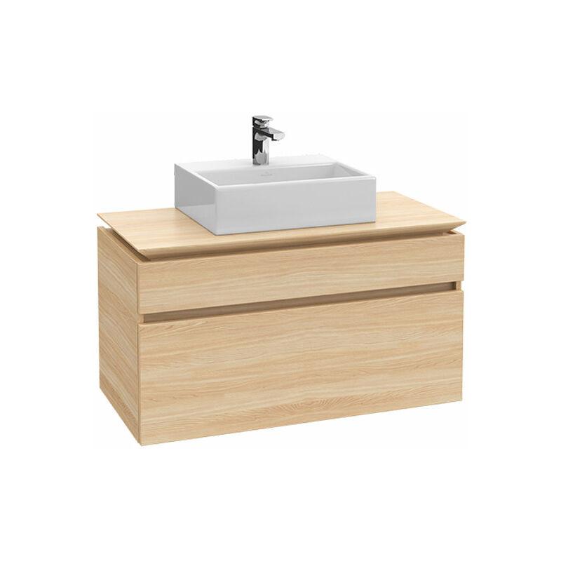 VILLEROY UND BOCH AG Meuble sous-lavabo Villeroy & Boch Legato B12300, 800x550x500mm, centré lavabo,