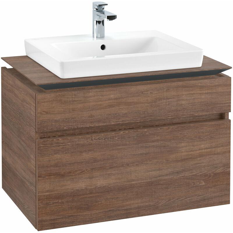 VILLEROY UND BOCH AG Meuble sous-lavabo Villeroy & Boch Legato B12360, 800x550x500mm, centré lavabo,