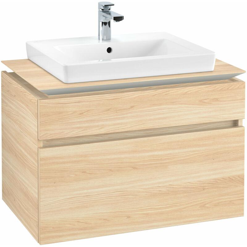 VILLEROY UND BOCH Meuble sous-lavabo Villeroy & Boch Legato B12360, 800x550x500mm, centré lavabo,