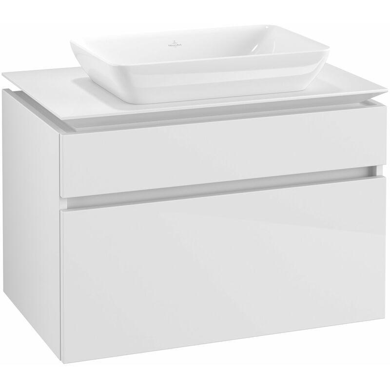 VILLEROY UND BOCH Meuble sous-lavabo Villeroy & Boch Legato B22800, 800x550x500mm, centré lavabo,