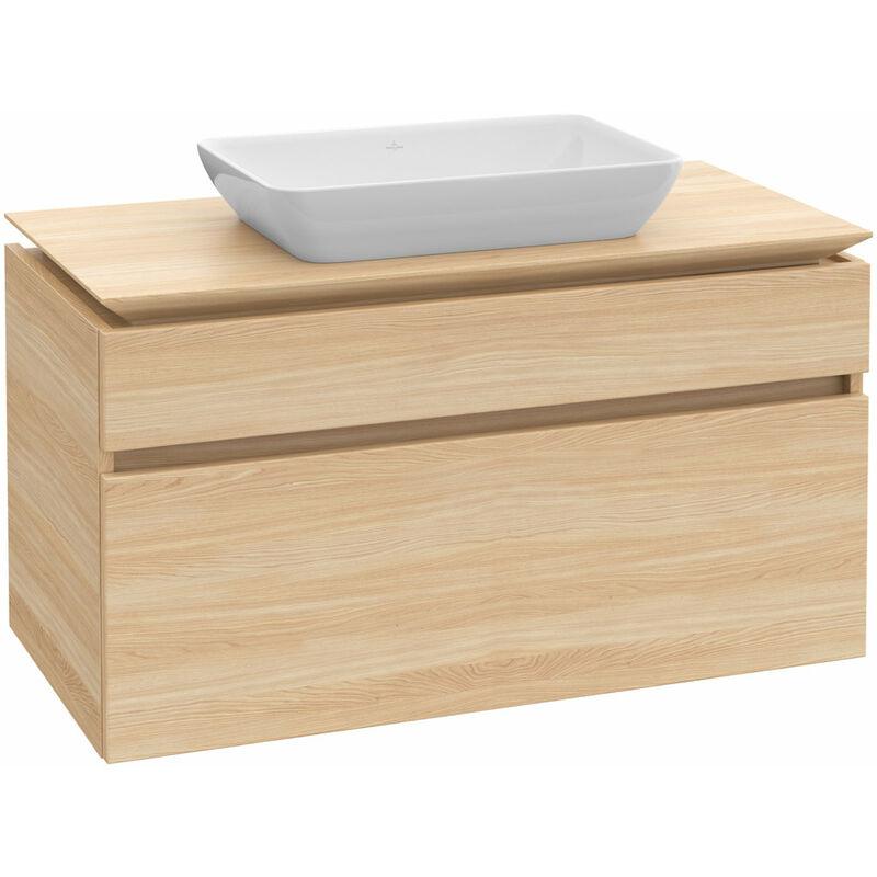 VILLEROY UND BOCH AG Meuble sous-lavabo Villeroy & Boch Legato B22800, 800x550x500mm, centré lavabo,