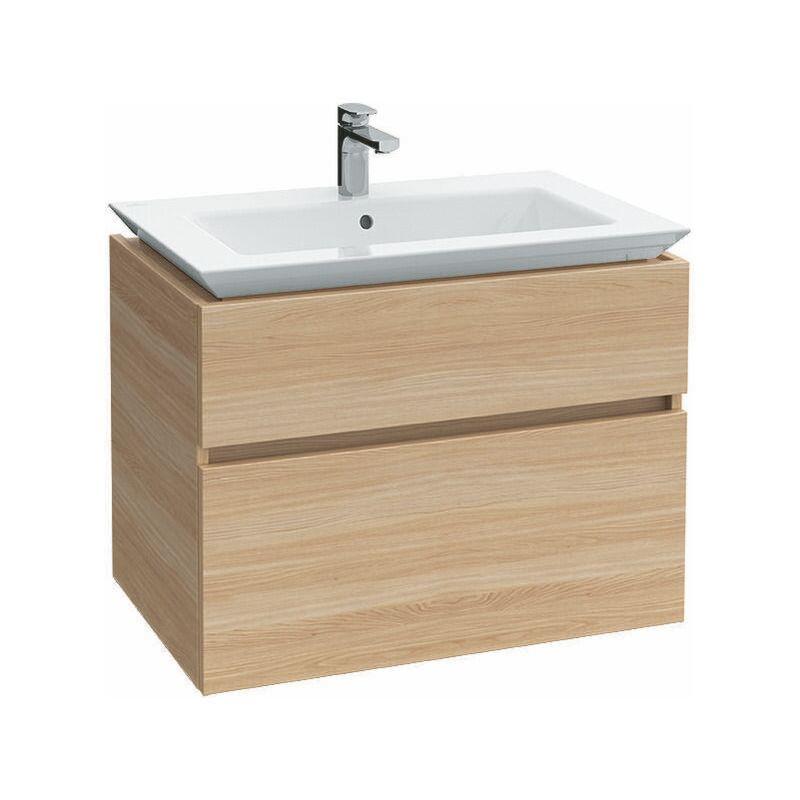 VILLEROY UND BOCH Meuble sous-lavabo Villeroy & Boch Legato B290, 800x590x500mm, Coloris: Blanc