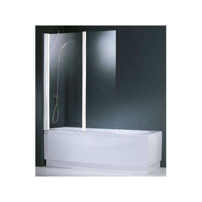 Novellini - Pare-baignoire verre transparent - 2 vantaux - 150 x 120 cm - Aurora