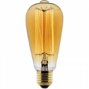 ELEXITY Ampoule Déco filament carbone Edison 25W E27 2700K (blanc chaud) - Publicité
